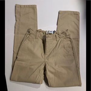 Old Navy SZ 14 Skinny Straight khaki pants uniform